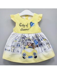 """Платье для малышек желтое с коротким рукавом """"Автоледи"""""""